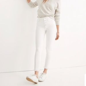 • Madewell • High-rise White Jeans